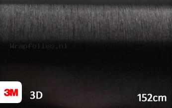 3M 1080 BR212 Brushed Black Metallic wrap folie