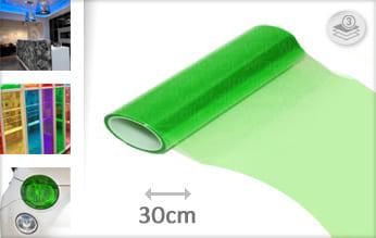 Groen doorzichtig wrap folie