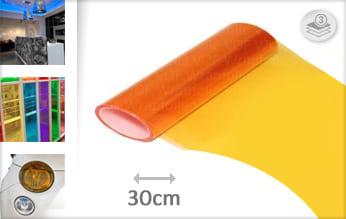 Oranje doorzichtig wrap folie