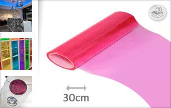 Roze doorzichtig wrap folie