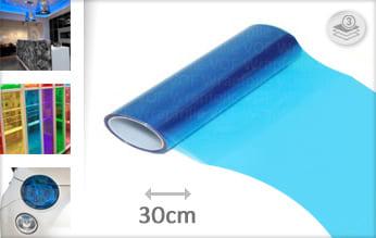 Blauw transparant wrap folie