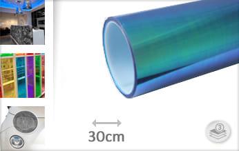 Flipflop blauw transparant wrap folie