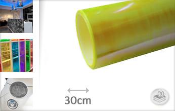 Flipflop geel transparant wrap folie