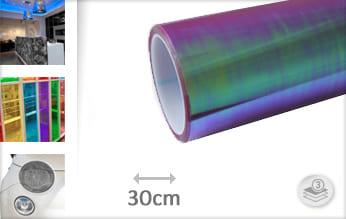 Flipflop paars transparant wrap folie