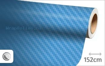 Babyblauw 3D carbon wrap folie