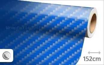 Blauw 2D carbon wrap folie