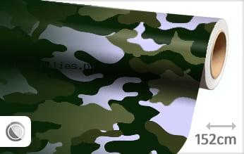 Camouflage groen wrap folie