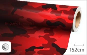 Camouflage rood wrap folie