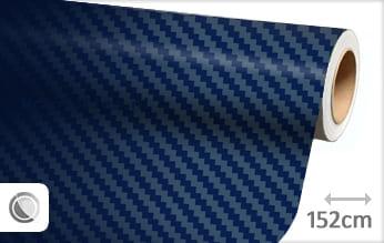 Donkerblauw 3D carbon wrap folie
