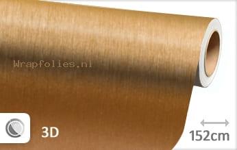 Geborsteld aluminium goud wrap folie
