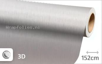Geborsteld aluminium zilver wrap folie