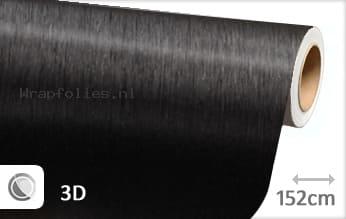 Geborsteld aluminium zwart wrap folie