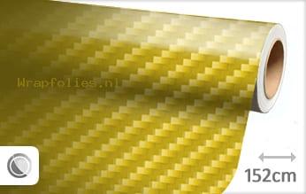 Geel 2D carbon wrap folie