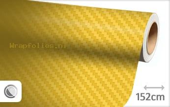 Geel 3D carbon wrap folie