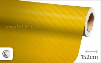 Geel 4D carbon wrap folie