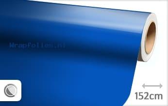 Glans blauw wrap folie