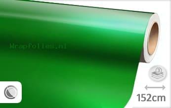 Glans metallic groen wrap folie