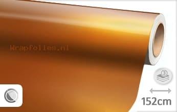 Glans metallic oranje wrap folie