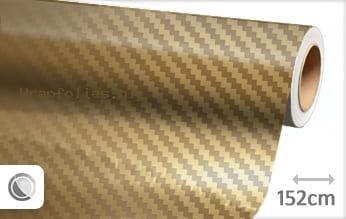 Goud chroom 3D carbon wrap folie