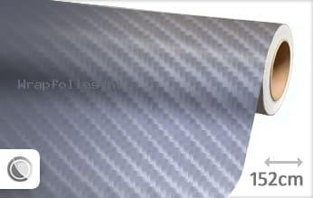 Grijs 4D carbon wrap folie