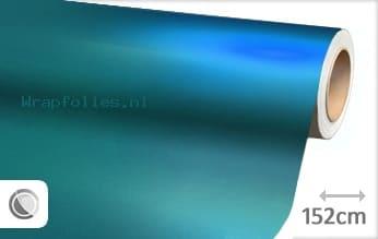 Mat chroom lichtblauw wrap folie