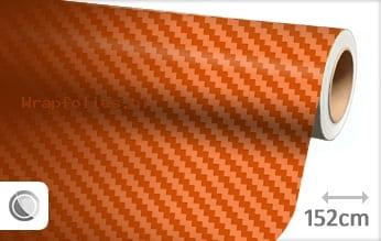 Oranje 3D carbon wrap folie