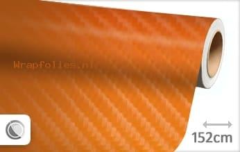 Oranje 4D carbon wrap folie
