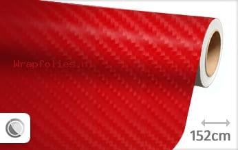 Rood 4D carbon wrap folie