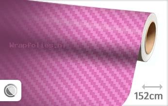 Roze 3D carbon wrap folie