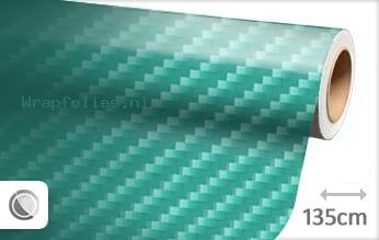 Turquoise 2D carbon wrap folie