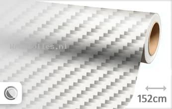 Wit 2D carbon wrap folie