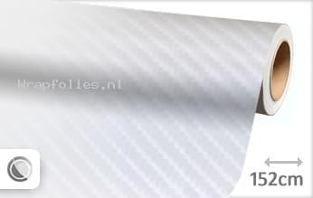 Wit 4D carbon wrap folie