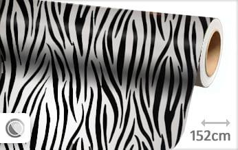 Zebra print wrap folie
