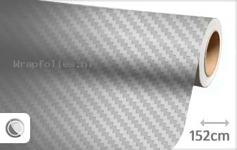 Zilver 3D carbon wrap folie