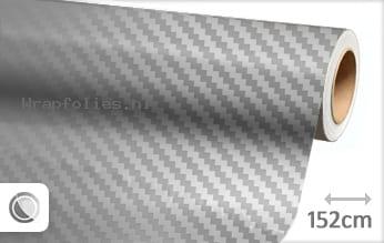Zilver chroom 3D carbon wrap folie
