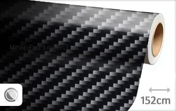 Zwart 2D carbon wrap folie