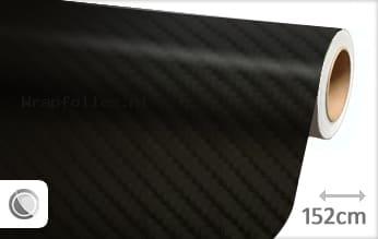 Zwart 4D carbon wrap folie