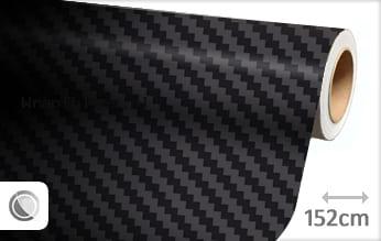 Zwart 3D carbon groot wrap folie